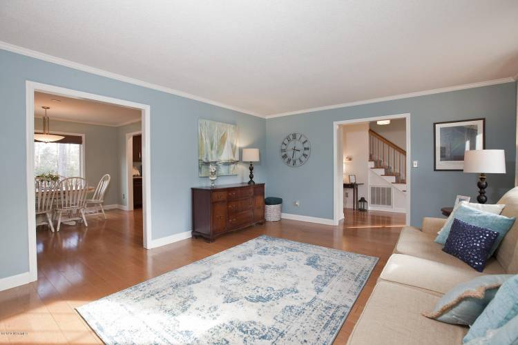 tipton family room showing foyer and din